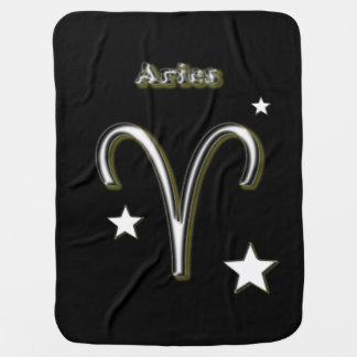 Aries symbol baby blanket