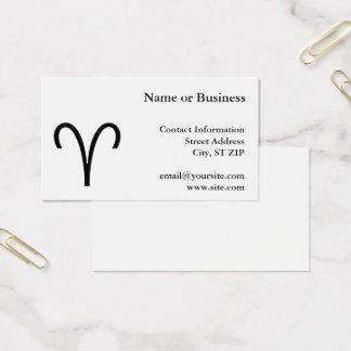 Aries Symbol Business Card