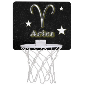 Aries symbol mini basketball hoop