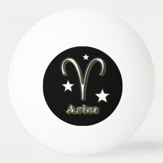 Aries symbol ping pong ball