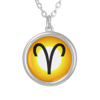 ARIES SYMBOL SILVER PLATED NECKLACE