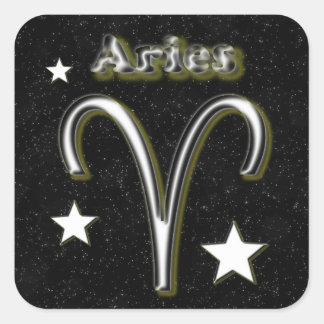 Aries symbol square sticker