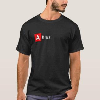 ARIES T SHIRT for Men - Zodiac Color Black Tee