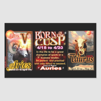 Aries Taurus zodiac Cusp by valxart Sticker