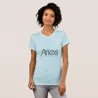 Aries Tee-shirt In Light Blue Born In March T-Shirt