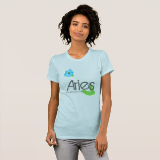 Aries Tee-shirt With Blue Gemstone Born In March T-Shirt