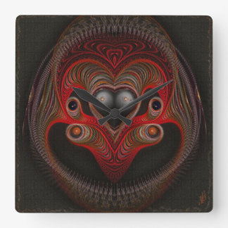 Aries the Ram Abstract Art Clock