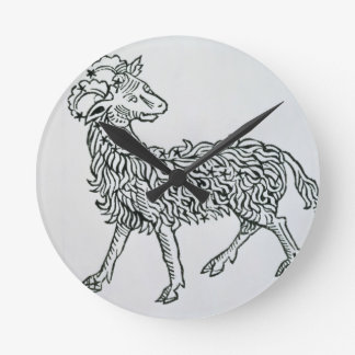 Aries (the Ram) an illustration from the 'Poeticon Wall Clocks