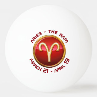 Aries - The Ram Astrological Sign Ping Pong Ball