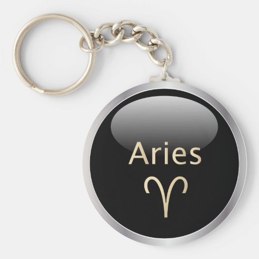 Aries the ram astrology star sign zodiac keychain