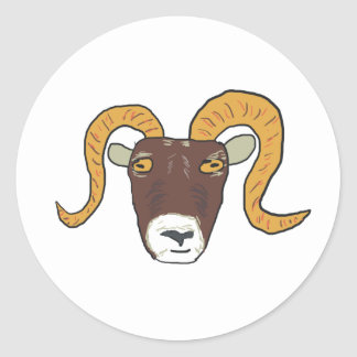 Aries the Ram Classic Round Sticker