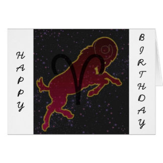 Aries The Ram Star sign Card