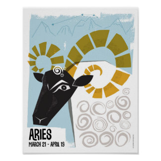 Aries the Ram Zodiac Poster