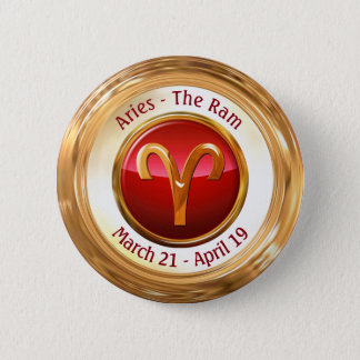 Aries - The Ram Zodiac Sign 2 Inch Round Button