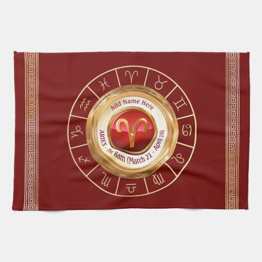 ARIES - The Ram Zodiac Sign Kitchen Towel