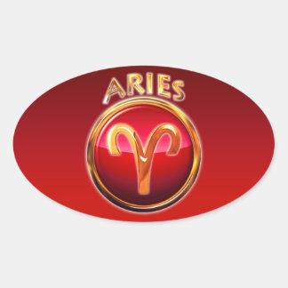 Aries - The Ram Zodiac Sign Oval Sticker