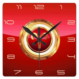 Aries - The Ram Zodiac Sign Square Wall Clock