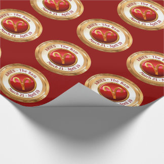Aries - The Ram Zodiac Sign Wrapping Paper