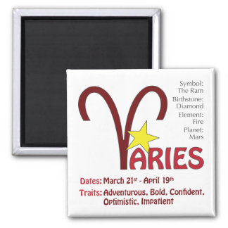 Aries Traits Magnet
