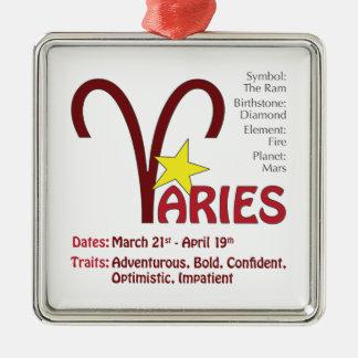 Aries Traits Square Ornament