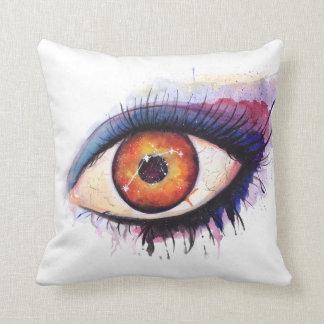 Aries Watercolor Eye   Throw Pillow