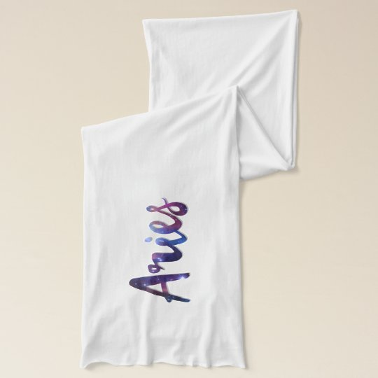Aries White Jersey Scarf