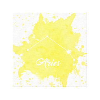 Aries Yellow Wall Art