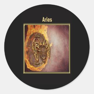 Aries Zodiac Astrology design Classic Round Sticker