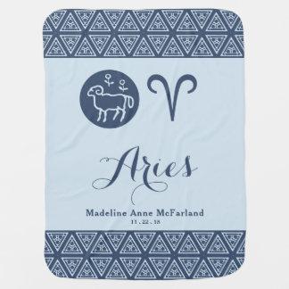 Aries Zodiac Baby Blanket