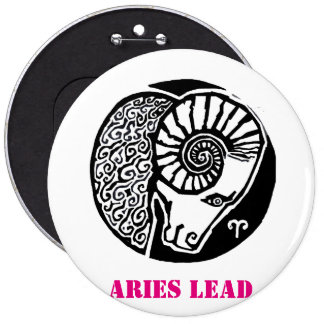 Aries - Zodiac Badge round 6 Inch Round Button
