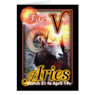 Aries Zodiac Birthday card