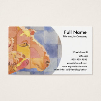 Aries Zodiac Business Card