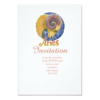Aries - Zodiac Invitation