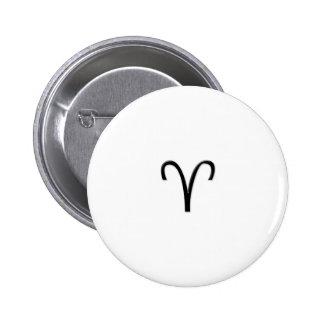 Aries - Zodiac Sign Pinback Button