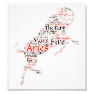 Aries Zodiac Sign Print