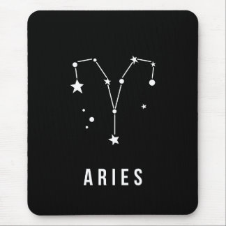 Aries Zodiac Sign Quote Mouse Pad