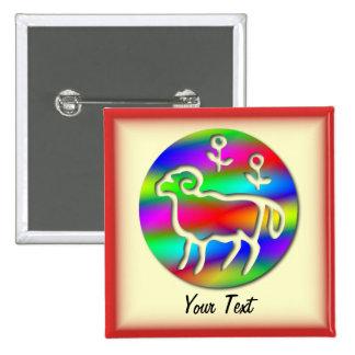 Aries Zodiac Star Sign Color Aura Pinback Button