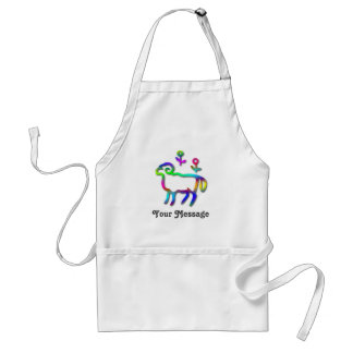 Aries Zodiac Star Sign Color Line Standard Apron