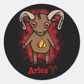 Aries Zodiac Sticker! Classic Round Sticker
