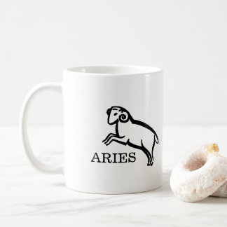 Aries Zodiac Vintage Ram Horoscope Coffee Mug