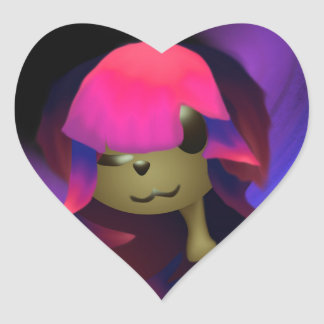 Arima Pup Love (Early Design) Heart Sticker