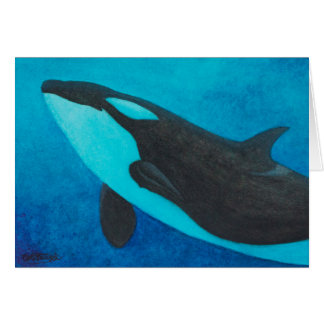"""""""Arise"""" Killer Whale / Orca blank greeting cards"""