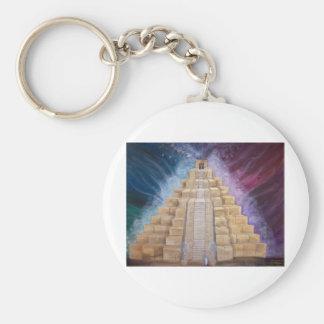 Arist with OM - Deb Graves Basic Round Button Keychain