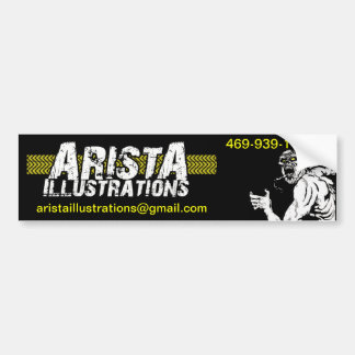 Arista Illustrations Collection Bumper Sticker