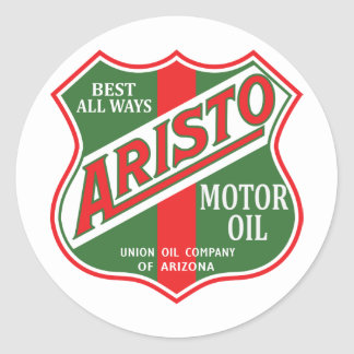 Aristo motor oil vintage sign reproduction classic round sticker