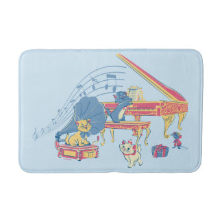 Aristocats at the Piano Bath Mat