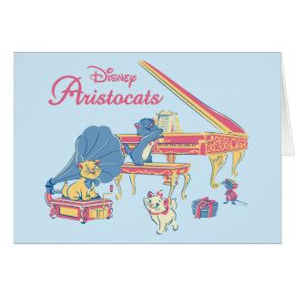 Aristocats at the Piano Card