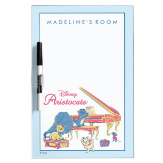 Aristocats at the Piano Dry Erase Board