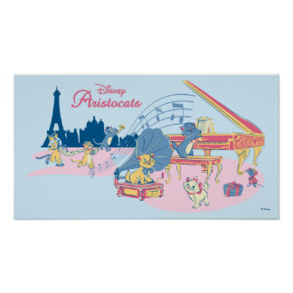 Aristocats at the Piano Poster