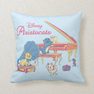 Aristocats at the Piano Throw Pillow